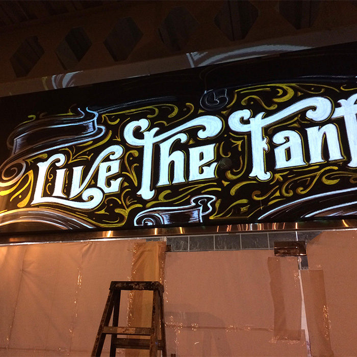 The Place Food and Drink Mural Lettering