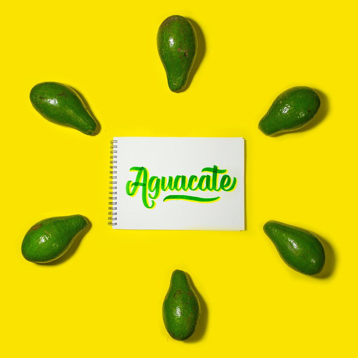 Aguacate lettering
