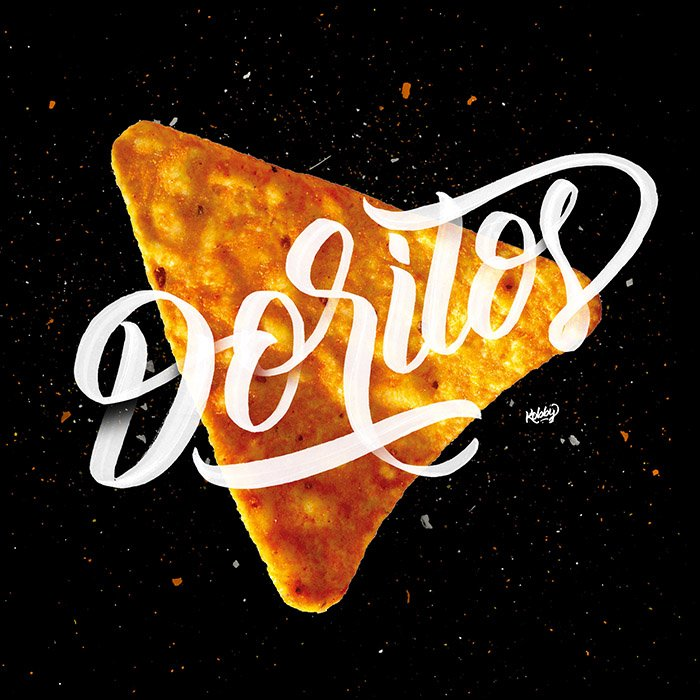 Doritos lettering