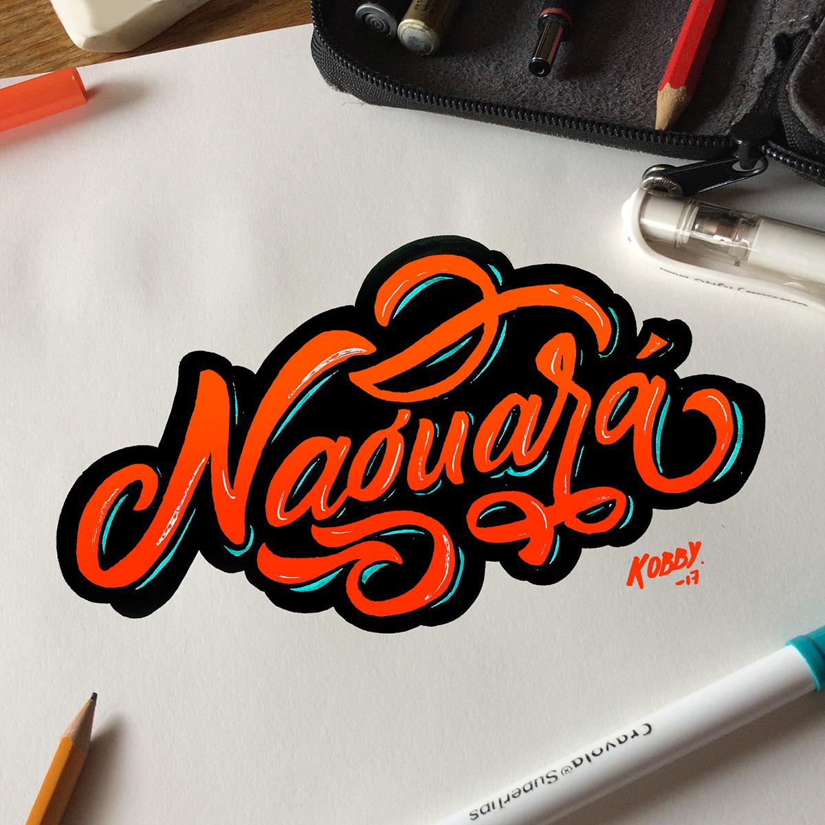 Naguara lettering