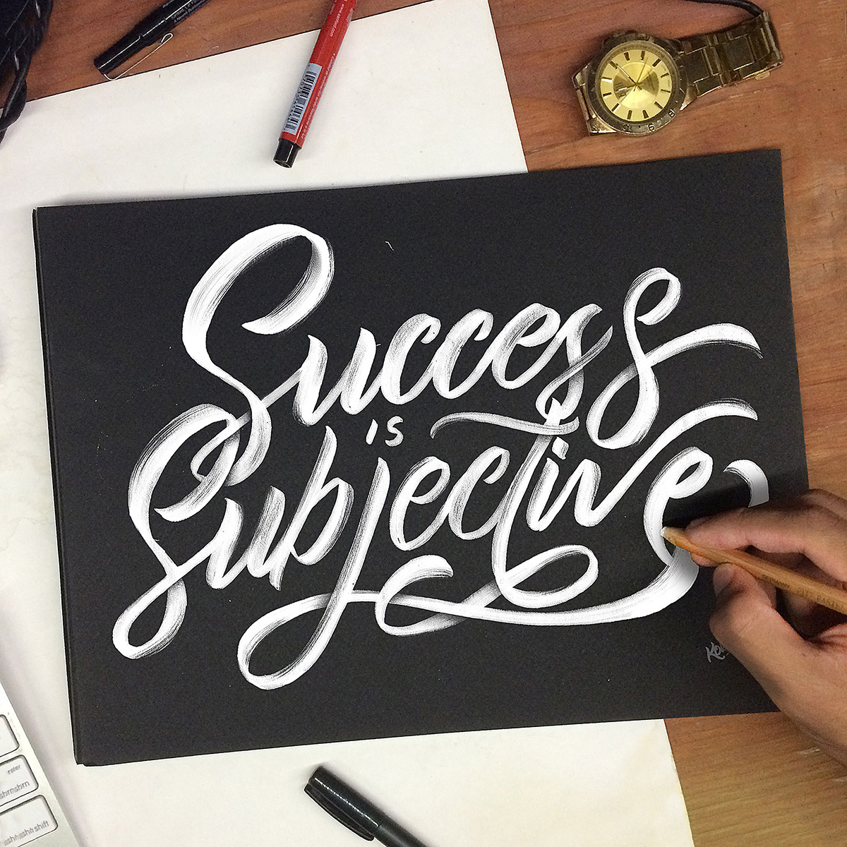 Success is Subjective lettering